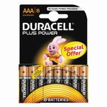 DURACELL Batteri Alkaliske MN 2400 1,5v  LR03/AAA Plus Power 8 stk