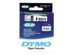Tape DYMO D2 19mm x 10m sort/hvit