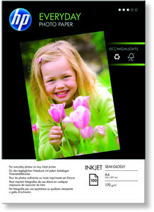 HP Everyday Fotopaper Glossy A4 100 sheet 170g/m² (Q2510A)