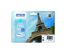 EPSON cartridge XL cyan for WP 4000/4500 2000 pages WP-4015DN WP-4025DW WP-4515DN WP-4525DNF WP-4535DWF WP-4545DTWF (C13T70224010)