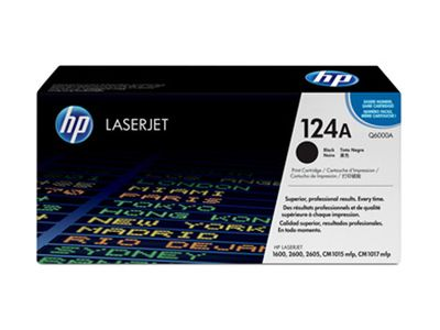HP 124A original LaserJet-tonerkassett,  svart (Q6000A)