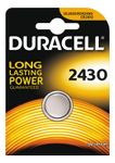 DURACELL Coin Battery, CR 2430, Lithium, 3V, 1-pack