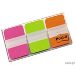 Index Post-it 686-PGO Strong Pink, grøn og orange Pk/3x22