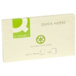 Notes Q-Connect Gul 76x127mm Genbrug pk/12