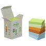POST-IT Notes Post-it 653 38x51mm 6 farver 100% genbrug Tårn med 6 blokke
