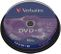VERBATIM DVD+R Verbatim 4.7Gb 16x spindle (10)