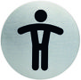 BNT Pictogram Herretoilet Ø75mm