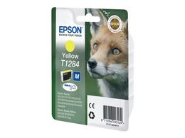 EPSON T1284 ink cartridge yellow standard capacity 3.5ml 1-pack blister without alarm