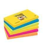 POST-IT Notes Super Sticky 655 Rio 76x127mm Pk/6