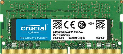 CRUCIAL 4GB DDR4 2666 MT/S PC4-21300 CL19 SR X8 SODIMM 260PIN MEM (CT4G4SFS8266)