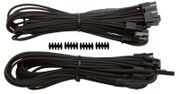 CORSAIR Professional Individually Sleeved PCIe cable Type 4 Generation 3 2PACK, BLACK