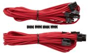 CORSAIR Professional Individually Sleeved Split PCIe cable 2 connectors Type 4 Generation 3 2PACK RED