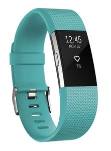 FITBIT Charge 2 - Teal/ Silver - Large (FB407STEL)