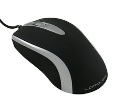 Mouse USB LC-Power M709BS 1000dpi Black Silver Optical