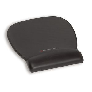 MOUSEPAD-WRISTREST W/ PRECISE MOUSING SURFACE - BLK LEATHER LOOK