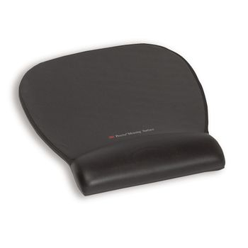 3M MOUSEPAD-WRISTREST W/ PRECISE MOUSING SURFACE - BLK LEATHER LOOK  (MW311LE             )
