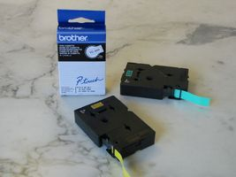 BROTHER P-TOUCH TAPE 12MM BLACK/ WHITE (TC-201)