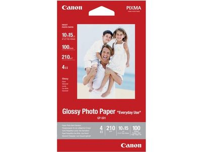 CANON GP-501 glossy photo paper inkjet 200g/m2 4x6 inch 100 sheets 1-pack (0775B003)