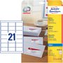 AVERY White Adressing Labels For Inkjet 63.5x38.1mm 21 Labels/ Sheets **25-pack**