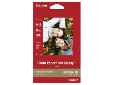 CANON PP-201 plus photo paper inkjet 260g/m2 4x6 inch 50 sheets 1-pack (2311B003)