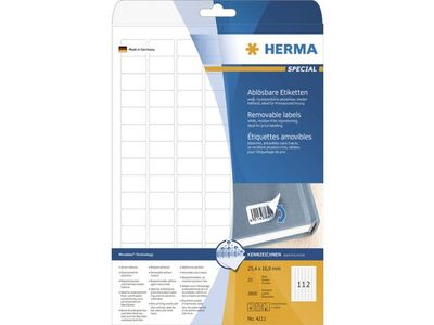 HERMA Etikett HERMA Movable 25, 4x16, 9mm (2800) (4211)