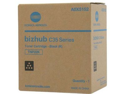 KONICA MINOLTA Black Toner Cartridge TNP-22K (A0X5152)