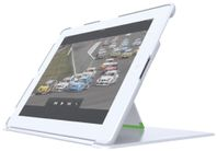 Case cover w. stand for New iPad/2 White