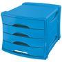 ESSELTE Förvaringsbox Europost 4 Lådor Blå