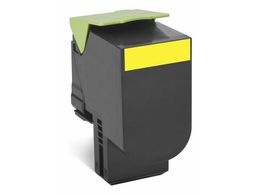 LEXMARK 802XY toner cartridge yellow extra high capacity 4.000 pages 1-pack return program