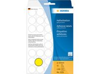 multi-purpose labels, ø 19 mm, yellow, (1280)