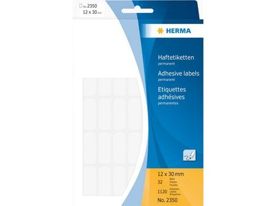 HERMA Etikett HERMA Allround 12x30mm vit(1120) (2350)