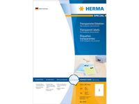 HERMA Etiketten transparent matt A4 210x297 mm Folie 100 St.