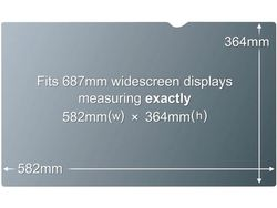 3M PF27.0W PRIVACY FILTER BLACK FOR 27,0IN / 68,6 CM / 16:10     IN ACCS (98044054207)