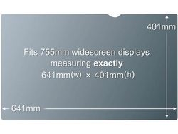 3M PF30.0W PRIVACY FILTER BLACK FOR 30,0IN / 76,2 CM / 16:10     IN ACCS (98044054223)
