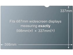 3M PF27.0W9 PRIVACY FILTER BLACK FOR 27,0IN / 68,6 CM / 16:9      IN ACCS (98044054363)
