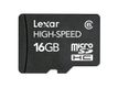 LEXAR 16GB microSDHC without adapter Class 10