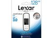 LEXAR JumpDrive S75 128GB, 128 GB, USB 3.0, 150 MB/s, Slide, Sort, Hvid