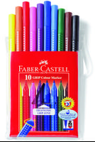 Fiberspetspennor Grip Color marker 10/et