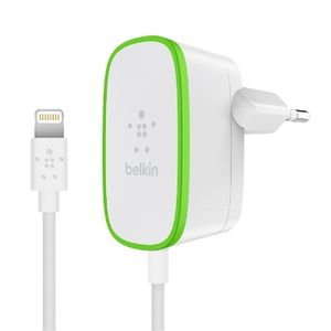 BELKIN WALL CHARGER 12WATT/ 2.4A WITH FIXED LIGHTNING WHITE (F8J204VF06-WHT)