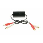AUX Adaptor Ground loop isolator / Noise filter Male and Female RCA connectors 0,6 Meter