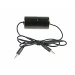 AUX Adaptor Ground loop isolator / Noise filter Male 3,5mm stereo jack connectors 0,6 Meter