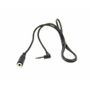 AUX Adaptor Jack extension Male-Female 3,5mm 90* male stereo Jack  0,75 meter