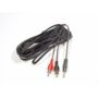 AUX Adaptor 2 x RCA Male connector to Male 3,5mm stereo Jack 3m