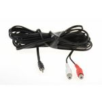 AUX Adaptor 2 x RCA female connector to Male 3,5mm stereo Jack 5m