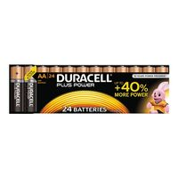 DURACELL Plus Power alkaliskt batteri, AA (LR06), 1,5V, 24-pack (023413*12)