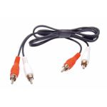 AUX Adaptor 2 x RCA cable Male-Male 0,75m