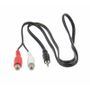 AUX Adaptor 2 x RCA female connector to Male 3,5mm stereo Jack 0,75m