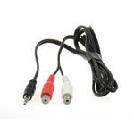AUX Adaptor 2 x RCA female connector to Male 3,5mm stereo Jack 1,5m
