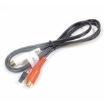 AUX Adaptor Microfit 4pin Male connector to 2 x RCA Female