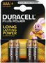 DURACELL Batteri Duracell MN 2400 1,5v LR03/AAA Plus Power Pk/4